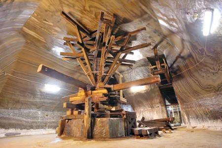 old  extraction salt machine inside of salt mine Stock Photo - 21452106