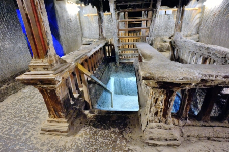 saltmine: inside of old salt mine and stairs