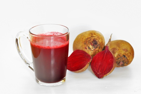 Beetroot juice shoot in studio Stock Photo - 21885689