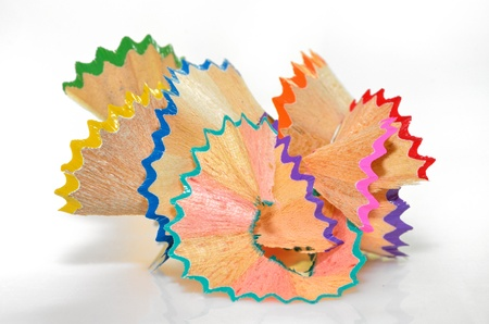 crayon shavings - back to school creative objects Stock Photo - 22116443