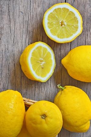 Fresh lemons shoot in studio Stock Photo - 23000462