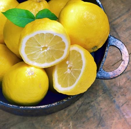Fresh lemons shoot in studio Stock Photo - 23000463