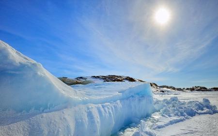 Ijsberg in Groenland in de zon Stockfoto