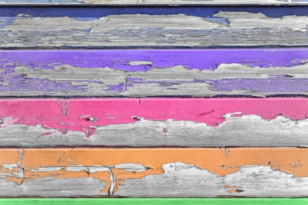 Background made from weathered boards of exfoliated wood Stock Photo - 23000472