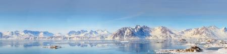 Groenland panorama schieten in het voorjaar de tijd