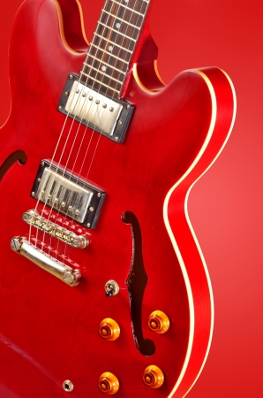 Electric guitar shoot in studio Stock Photo - 23216288