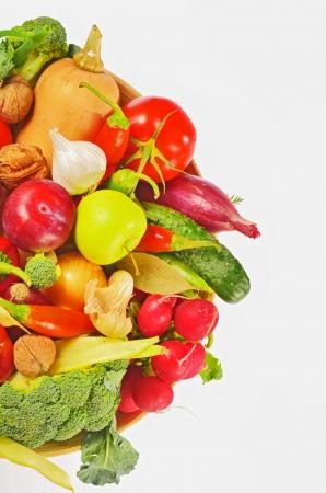 Fresh Bio Vegetable in a Basket