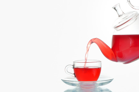 Cup of tea and teapot shoot in studio Stock Photo - 23216322