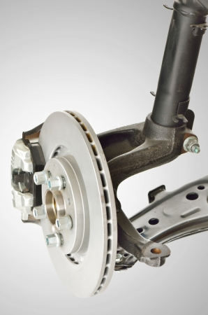 Disc Brake and Shock Assembly shoot in studio photo