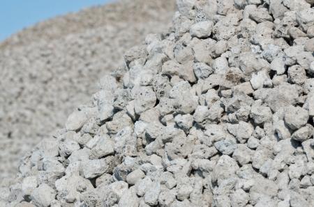 Slakken stenen - het afval van ijzererts, macro Stockfoto