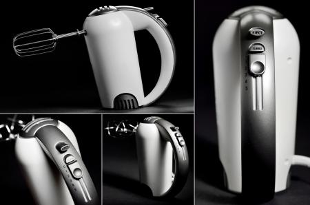 Kitchen hand mixer on black background Stock Photo - 23812621