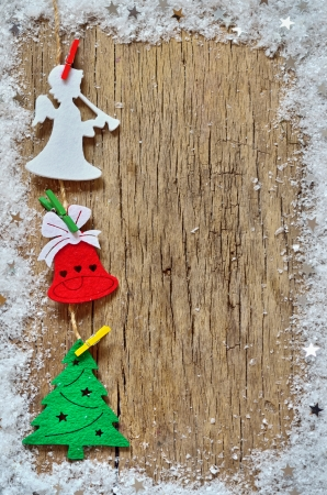 Christmas decoration on wooden background  photo