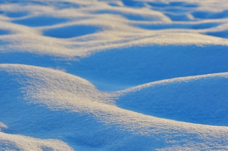 macro waves of snow bumps, shoot at sunrise Stock Photo - 23812639
