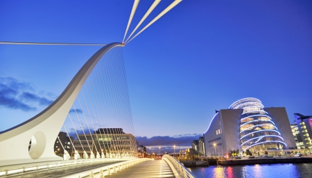 samuel: Samuel Beckett Bridge in Dublin in summer time