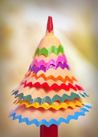 tree made ​​of colored pencil shavings Stock Photo - 24201951