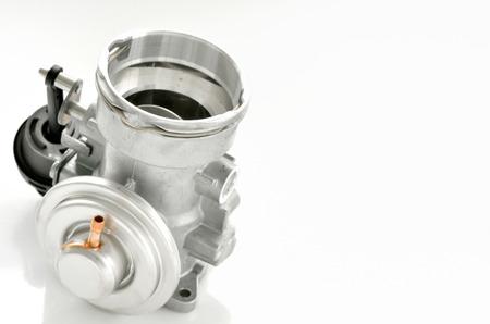 details of throttle isolated on white background Stock Photo - 24388059