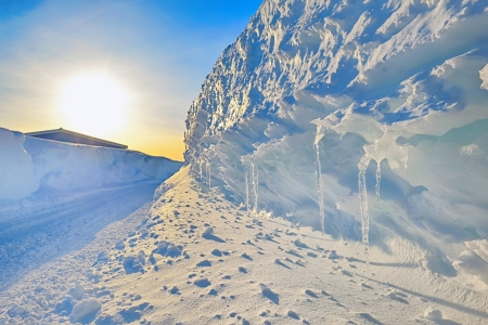 winter road and frozen climate Stock Photo - 24388060