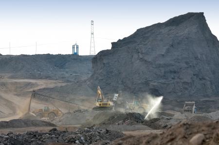 Dump of the coal mine and equipment Stock Photo - 24388063