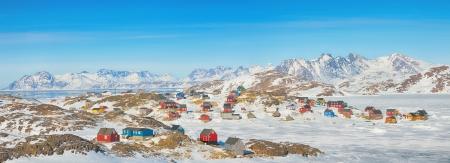 fjords: Greenland landscape  in spring time