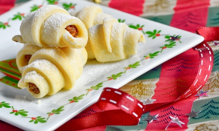 Homemade Rugelach (Jewish pastry) for christmas time