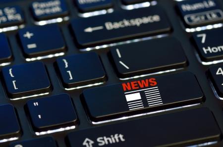 concept news icon on enter key of keyboard Stock Photo - 25083386