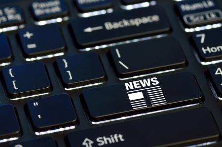 concept news icon on enter key of keyboard Stock Photo - 25487026
