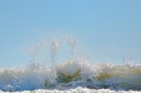 Sea foam of big wave on Black Sea