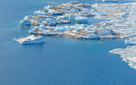 icefjord: beautiful Landscape in Greenland with ice, snow and water. Global warming
