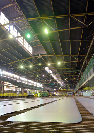 extrusion: sheet metal in production hall