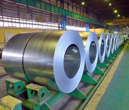 hard alloy: rolls of steel sheet inside of plant