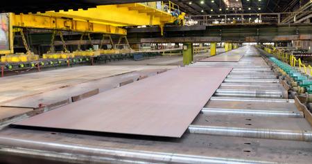 Sheet mill in ferrous metallurgy work produces sheets of steel