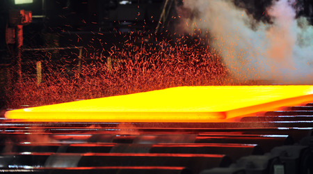 hot rolling mill, Gas cutting of the hot metal photo