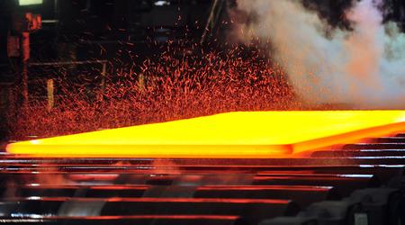 laminoir à chaud, la découpe de gaz du métal chaud