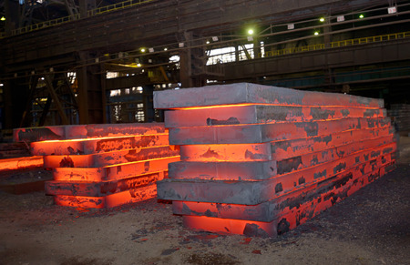 stack of hot thick sheet in plant