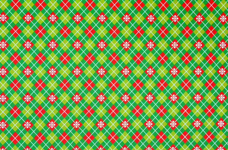 Christmas wrapping paper on red and green pattern  photo