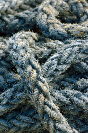 coiled rope: Ship rope in detail