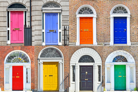 Arten von georgischen Türen in Dublin