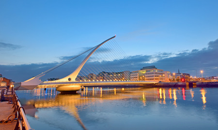 samuel: The Samuel Beckett Bridge in night time