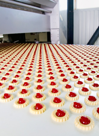 process industry: Production of biscuits, Biscuit factory