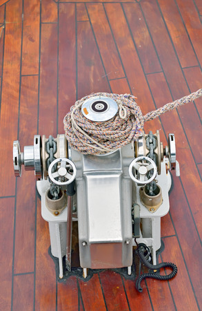 ship bow: bow anchor winch on ship deck