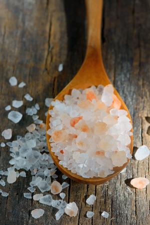Pink salt from the Himalayas photo