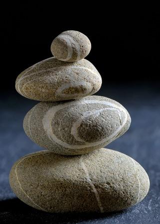pile of stones isolated in studio Stock Photo