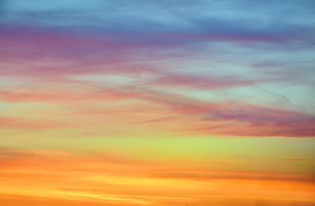 sunset sky: pastel  color of sunset sky in Iceland Stock Photo