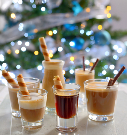 baileys: Different espresso shots, Latte and Cappuccino