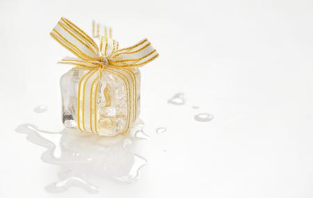 Melting ice cube gift