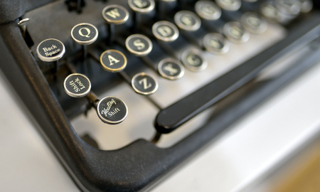 Details of Old typing machine Stock Photo