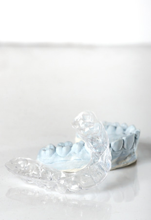 Silicone dental tray and mold isolated Stock fotó