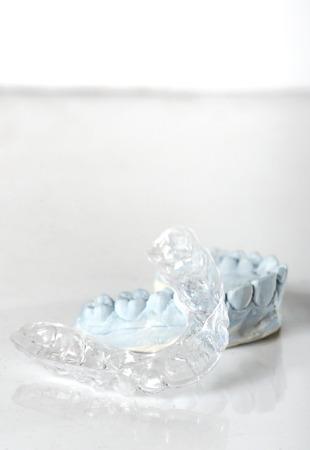Silicone tandheelkundige lade en schimmel geïsoleerd Stockfoto