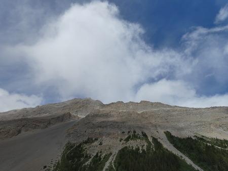 Athabasca Glaciers in 2018. Close to Jasper, Alberta, Canada Stock Photo