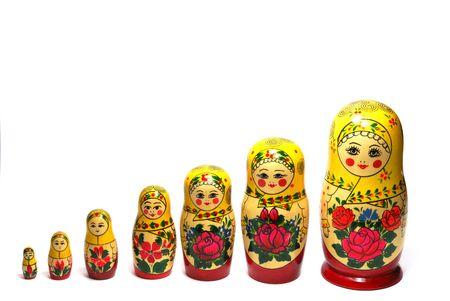 Matreshka_line izolated on white Stock Photo